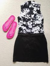 Sukně černá minisukně, c&a,s