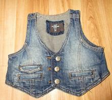 Riflová vesta, h&m,74