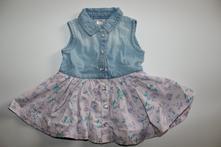 Bavlněné květované šaty 62/68, f&f,62