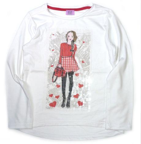 Bílé pružné tričko s holkou, f&f,122