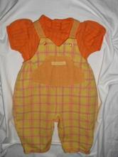 Krásný komplet laclových kalhot a oranž trička , marks & spencer,68