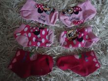 Kotníkové ponožky minie a jahůdkou, disney,23