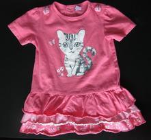 Dívčí letní šaty s kočičkou, vel. 92 (1,5 - 2 roky, dopodopo,92