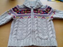 Pletený svetr, svetřík, teplý, 4-5 let, george,110