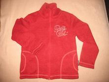 Červená teplá mikina na zip, 122
