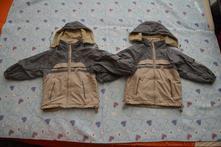 2x zimní přechodová oboustranná bunda bundička, 104