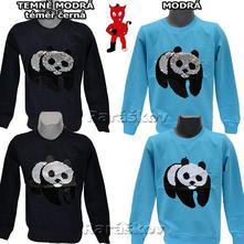 Super měnící bavlněné triko, mikina, panda skladem, 98 / 104 / 110 / 116 / 122