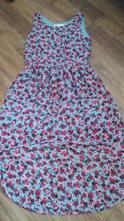 Květované šifónové šaty, h&m,134