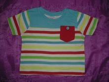 Pruhované tričko 6 - 9 m, baby,74