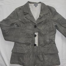 P205. pruhované šedé sako vel s, 36