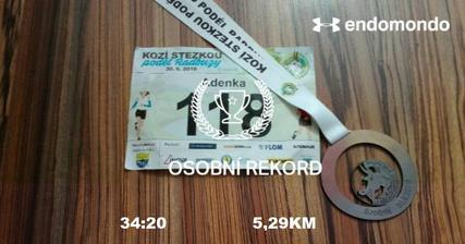 Můj první závod je za mnou :)