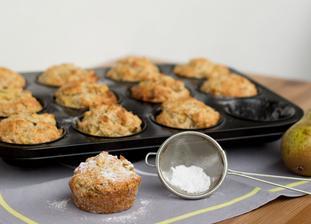 Hruškové muffiny s kokosem