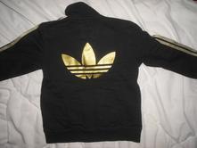 Černá mikina se zlatým logem, adidas,98