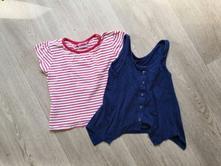 Modrá vesta a červenobílé tričko cherokee vel. 110, cherokee,110