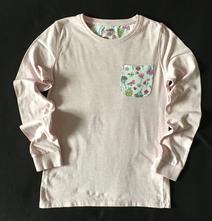 Vel. 134 růžové pyžamové triko s kapsou, f&f,134