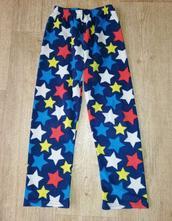 Tepláky/pyžamové kalhoty flís. vel.116/122, rebel,116