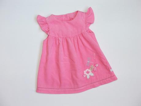 P397 růžové šaty vel. 62, bhs,62