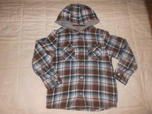 Flanelová košile s kapucí, 122