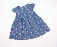 P378 květované šaty riflového vzhledu vel. 68, george,68