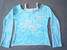 Dívčí triko s motýlkami - district - 134-140, 134