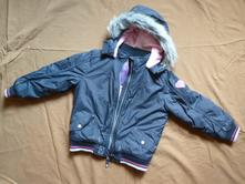 Dívčí bunda zímní do pasu, kapuce, vel. 122, c&a,122