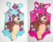 Jednodílné plavky máša a medvěd, 98 - 128
