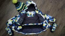 Zimní bunda 98/104+rukavice a čepice zdarma, lupilu,104