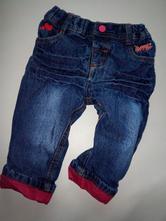 Holčičí bavlnou podšité nové riflové kalhoty, ergee,74