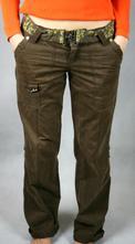 Hnědé kalhoty s páskem vel 38, 38