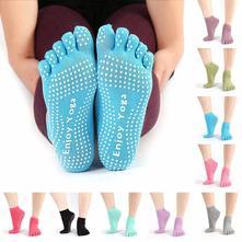 Prstové protiskluzové ponožky na jógu,