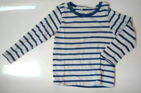 S57 - modrobílé proužkové tričko, impidimpi,86