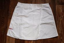Bílá sportovní zavinovací sukně na tenis m, 40