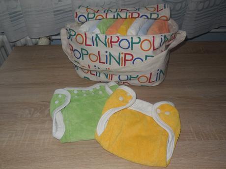Látkové plenky popolini (sada), popolini