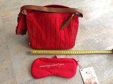 Červená kabelka taška s doplňky zn. tommy hilfiger,