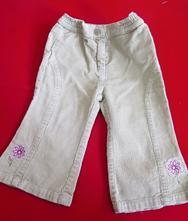 Manšestrové kalhoty s kytičkami, topolino,80