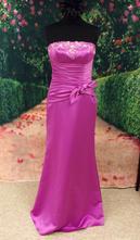 Fialové dlouhé šaty vel 38, 38