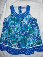 Nádherné modré květované šaty, f&f,92