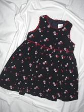 Krásné květované manžestrové šaty, next,74