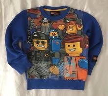 Vel. 110 modrá lego mikina, next,110