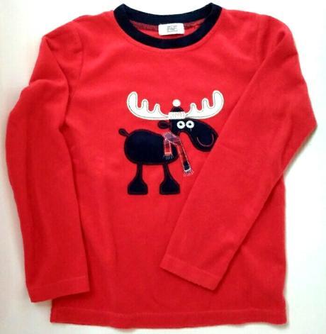 S70 - teplé červené tričko se sobem, f&f,128