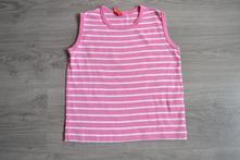 Dívčí růžové pruhované letní tílko, 110
