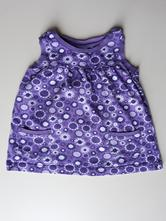 Fialové květované šaty, dopodopo,80