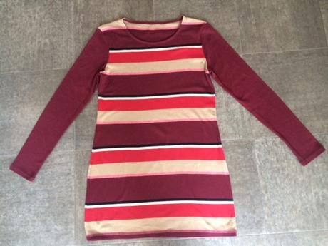 Pruhované šaty / svetr vel 36, s