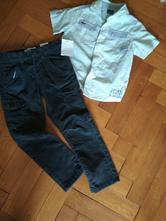 Nenošené manšestrové kalhoty a košile, c&a,116