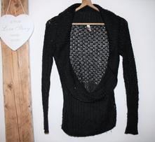 Černý elegantní svetr s.oliver 38, s.oliver,s