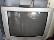 Stará televize philips s dálkovým ovladačem, philips