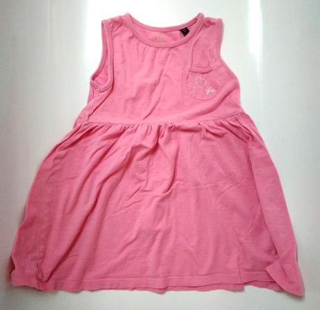 S86 - lehké letní růžové šaty, 110
