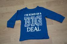 Modré triko zn. next, vel. 80/86, next,80