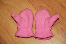 Fleecové rukavičky - růžové, na 3 roky, 80