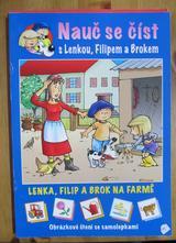 Nauč se číst s lenkou, filipem a brokem - na farmě,